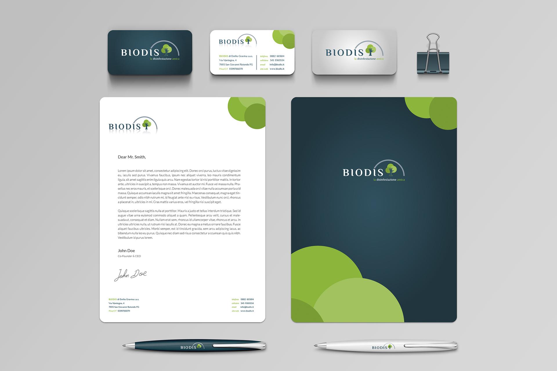 BIODIS Branding Identity Mockup